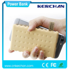 2015 new design cookie style power bank lithium