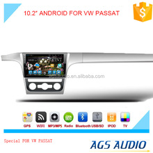 New 10.2 inch Android 2015 Latest Android car GPS navigation manufacturer for VW PASSAT