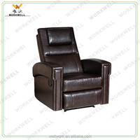 WorkWell most popular pu luxury leather recliner sofa Kw-Fu54