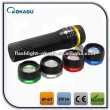 Rechargeable zoom cree q5 logo projector flashlight