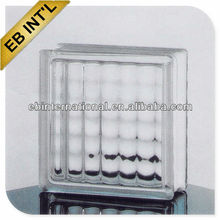 solid clear Jing hua brand crystal glass brick