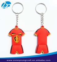 Custom World cup polo shirt design rubber keychain making