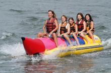 0.9mm PVC Tarpaulin Double Tube Banana Boat,Water Boat Banana