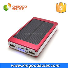 Factory price Dual USB 5V1A 5V2.1A high capacity portable power bank solar charger 30000mah with 4 led lights