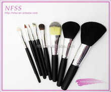 New design 2015 wood handle high quality make up brush 8pcs lady beauty cosmetic brush synthetic makeup brushes