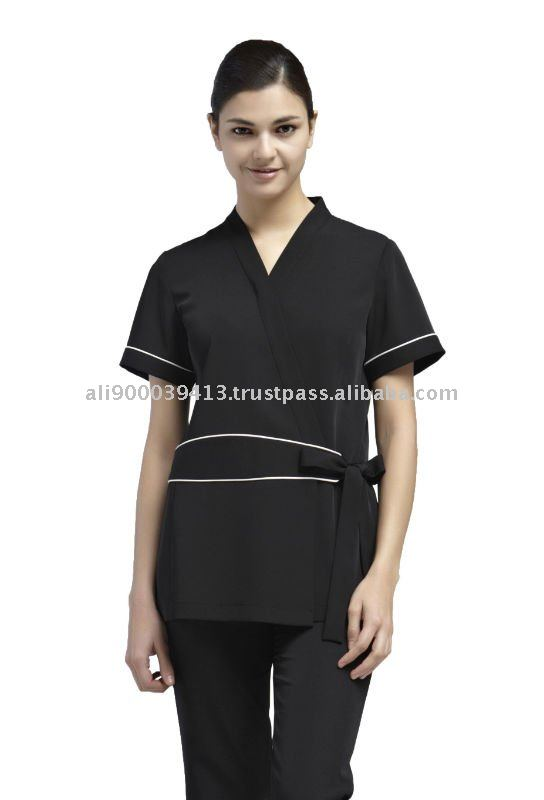 Badekurort und sch nheitssalons uniform yaejw0026 for Spa uniform indonesia