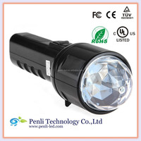 2 in 1 LED RGB/White 3W Stage Light Lamp Flashlight Torch, portable LED light