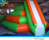 COOL!! Commercial Inflatable Water Slide Floating Game / inflatable water obstacle course