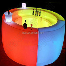 Modern Design Hotel Club Glow LED Bar Counter table/Plastic Led Bar Furniture New Design Events Led Bar Counter