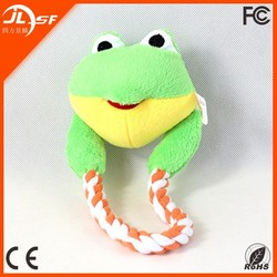 China Supplier Direct Wholesale Lovely New Pet Products Animal Heads Pet Chew Rope Toy With 4 Colors
