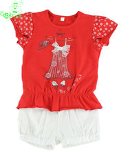 china garment manufacturer child t shirt and leisure shorts 2014 brand children clothing sets export kids apparel factory