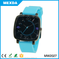 hot sell cheap gift alloy case promotion silicone watch