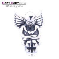 Wholesale 925 Sterling Silver Angel Charms Angel Wing Charm Beads For European Bracelet US DIy Jewellery