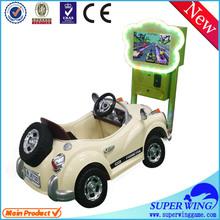 Amusement indoor children children ride on car rubber tires