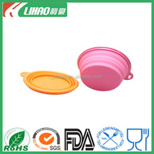 Portable Outdoor Travel Folding Retractable Silicone Pet Dog Cat Water Food Feeding Bowl