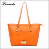 2015 New designed factory OEM lady pu leather tote woman fashion handbag
