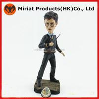 Plastic famous cartoon actors harry potter figure