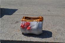 Aqua Rose Ceramic Flower Pot Bowl Vase New
