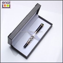 newest promotion and gift metal fountain pen set with silver hollow out carving patterns and decorative jewelry on body