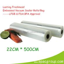 Lasting Freshness!! Embossed 6'' * 50' OR 8'' * 50' OR 10'' * 50' Commerial vacuum bag plastic vacuum sealer bag food F