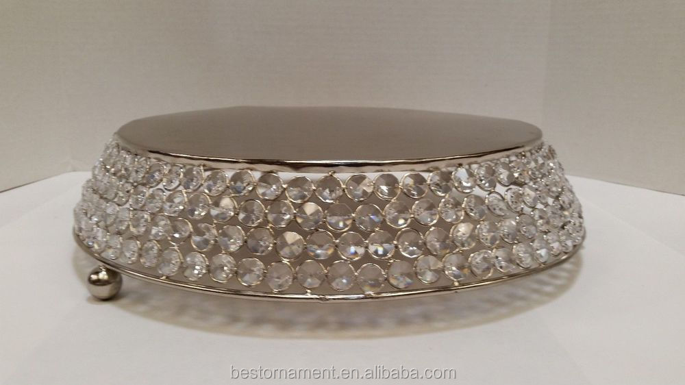 12 Quot Bling Wedding Crystal Cake Stand View Metal Wedding