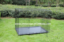 folding metal wire dog cage,pet cage