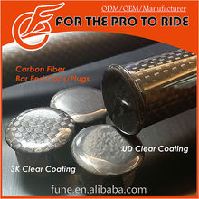 3K UD Carbon Caps for Bicycle Handlebar End 20.0mm