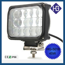 IP68 6.5 inch 45W Puri bulbs 4WD Truck spot led work light motorcycle accessories