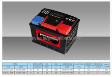 12v car battery/maintenance free battery/dry charged car battery