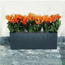 outdoor rattan flower pots