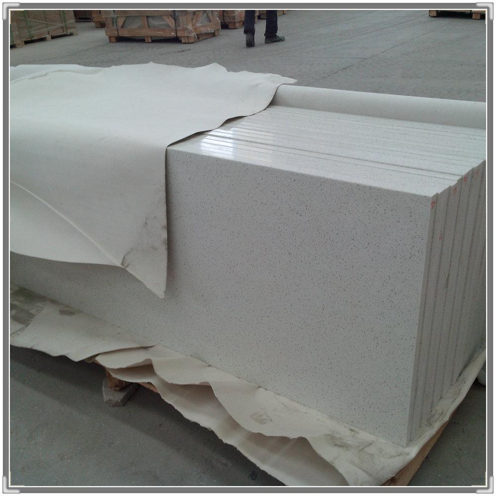2015 new type hot selli white quartz kitchen countertop for Type of quartz countertops