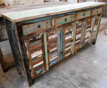 Recycled Furniture 4 drawers 6 doors buffet