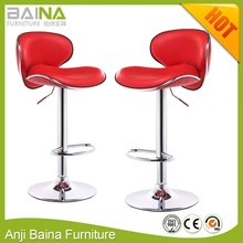 cheap faux leather high chair swivel bar stools wholesale footrest and base china supplier