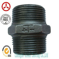 hardware 280 Nipple China manufacturer Malleable cast iron pipe fittings