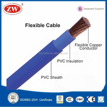 AWG 2/0 flexible wire stranded electric welding Cable pvc insulated wires flexible cable