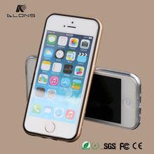 2015 hot sale!!Metal Bumper Case + Double Color Bumper cover back thin Slim aluminum case for iphone 5