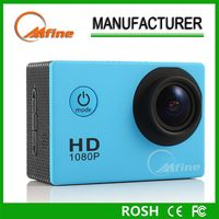 Newly design full hd 1080p sports camera,rechargeable battery sports camera,helmet bullet mini sports dv