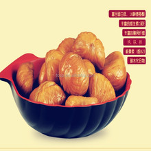 frozen chestnut snacks food with cooking and peeling
