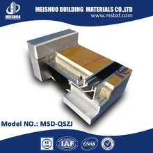 Concrete metal expansion sealant for flush seismic joint