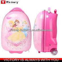 Cartoon kids luggage on wheels,hard shape trolley bag