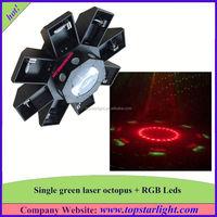 china factory direct sale single green+177*10mm rgb leds green laser octopus mini laser light show 12v