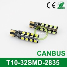 Professional factory auto led lamp T10-32smd light led car canbus 2835 chip