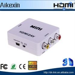 Mini HDMI to AV Video Converter with Box
