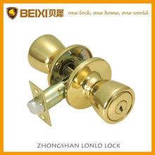 de alta seguridad hecha de latón acabado de latón pulido tubular redondo entrada cerradura de la puerta conjunto