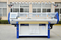 Full computerized single system sweater flat knitting machine high quality low price
