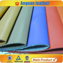 leather backing thick pu leather brush pattern for man shoe leather product Y007