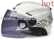 Open face helmet & different color face shield AD-801