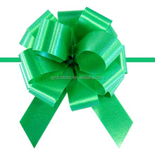 """5.5"""" PP Glitter Pompom Pull Ribbon Bow Packings For USA Marketing Suppled by China Manufacturer"""
