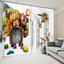 New chinese cartoon design curtain, 100% polyester custom made curtains drapes