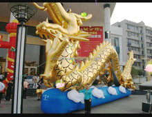 customized chinese style golden giant inflatable chinese dragon for decoration